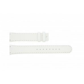 Boccia watch strap BO3186-01-40W Leather White 19mm + standard stitching