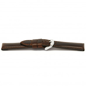 Watch band leather brown 16mm EX-E323