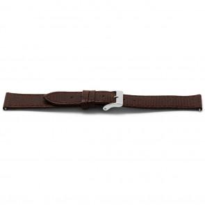 Watch strap Universal E333 Lizard Slimline Leather Brown 16mm