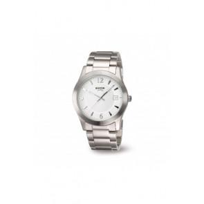 Watch strap Boccia 3550 - 01 Steel Steel 22mm