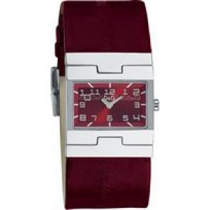 Watch strap Dolce & Gabbana 3719251493 Leather Bordeaux 25mm