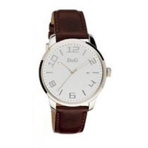 Watch strap Dolce & Gabbana 3719340294 Leather Dark brown