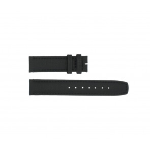 Boccia watch strap 3771-01 Leather Black 20mm + standard stitching