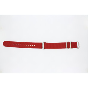 Watch strap 409.06.20 Textiles Red 20mm