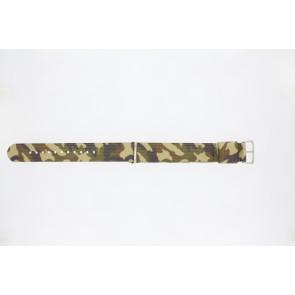 Watch strap 410.C3.22 Textiles Multicolor 22mm