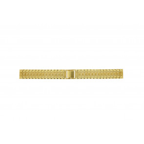 Watch strap Universal 41559.1.16 Steel Gold plated 16mm