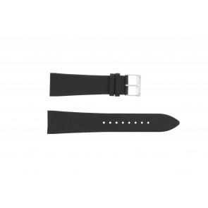 Watch strap Junghans 42050-4963 / 030/4942.00/222987 Leather Black 22mm