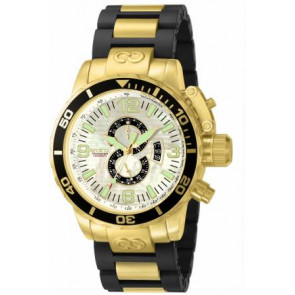 Watch strap Invicta 4899.01 Steel Gold plated