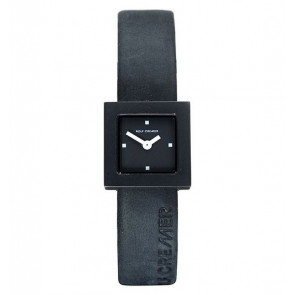 Watch strap Rolf Cremer 496207 Leather Black 14mm