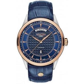 Watch strap Roamer 508293.49.45.05 Leather Blue