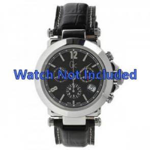 Guess watch strap GC30000 Leather Black 22mm