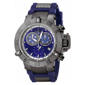 Watch strap Invicta 5509.01 Steel/Silicone Blue