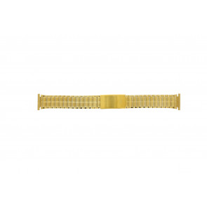 Watch strap Universal 551528 Steel Gold plated 20mm