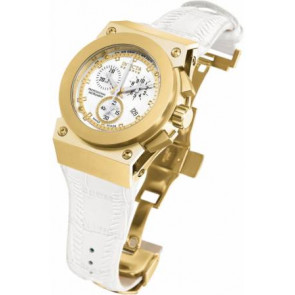 Watch strap Invicta 5574.01 Leather White