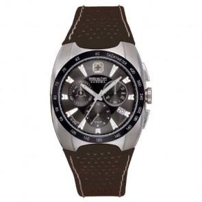 Watch strap Swiss Military Hanowa 6-4091 Leather Black