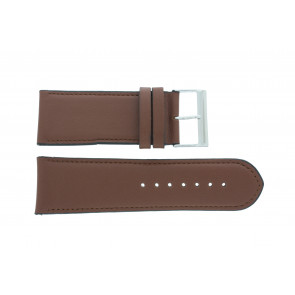 Watch strap 61215B.23.28 Leather Brown 28mm + default stitching