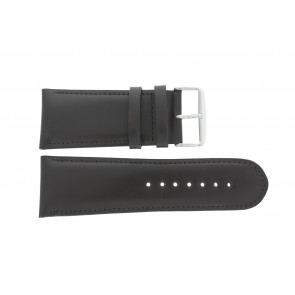 Watch strap 61215B.27.30 Leather Dark brown 30mm + default stitching