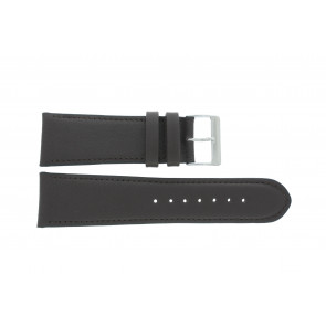 Watch strap 61215B.27.26 Leather Dark brown 26mm + default stitching