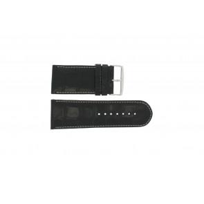 Genuine leather watch strap croco black WP-61324.32mm