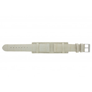 Watch strap 61325.12.20 Leather Beige 20mm + beige stitching