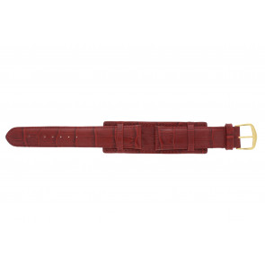 Watch strap 61325.45.20 Leather Red 20mm + red stitching