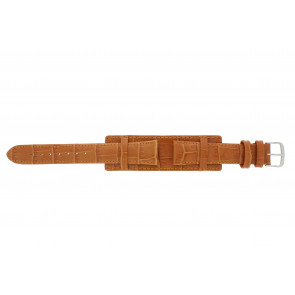 Watch strap 61325.75.18 Leather Orange 18mm + orange stitching