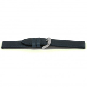 Watch band leather blue 16mm EX-E629