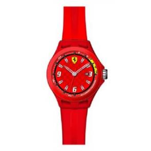 Watch strap Ferrari SF-01-1-47-0005 / 689300005 Silicone Red