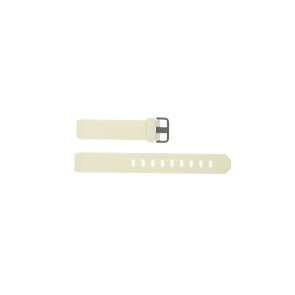 Jacob Jensen watch strap 700 Serie Rubber White 17mm
