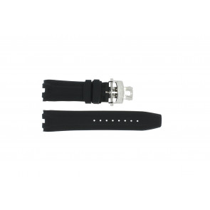 Watch strap Roamer 750837 Rubber Black