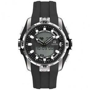 Watch strap Roamer 770990-41-55-07 Rubber Black