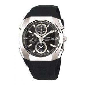 Watch strap Pulsar 7T62-X121 Plastic Black