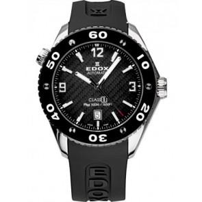 Watch strap Edox 80061 Silicone Black 20mm