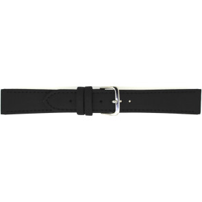 Watch strap 823.01.10 Leather Black 10mm + black stitching