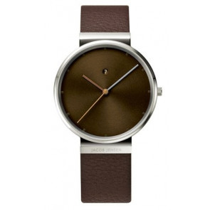 Watch strap 843 Leather Brown 19mm