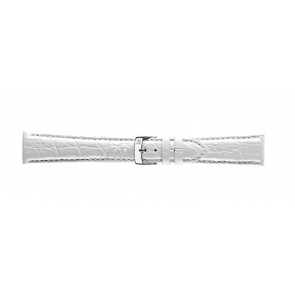 Morellato watch strap Amadeus G.Croc Glans U0518052017CR22 / PMU017AMADEC22 Crocodile skin White 22mm + standard stitching