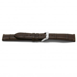Watchband real Alligator leather brown 22mm EX-H334