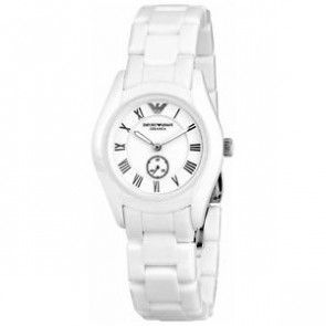 Watch strap Armani AR1405 Ceramics White 18mm