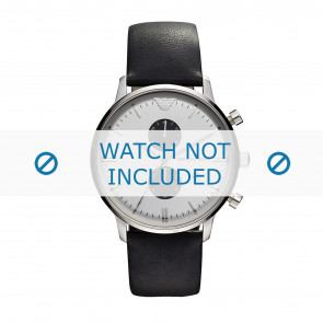 Watch strap Armani AR0385 Leather Black