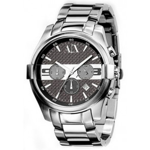 Watch strap Armani Exchange AX2025 Steel Steel 22mm