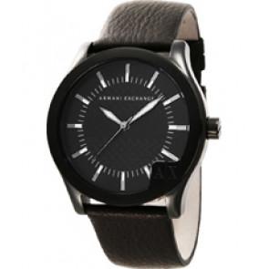 Watch strap Armani Exchange AX2049 Leather Black 22mm
