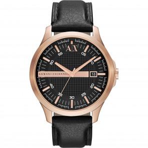 Watch strap Armani Exchange AX2129 Leather Black 22mm