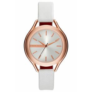 Watch strap Armani Exchange AX4251 Leather White 14mm