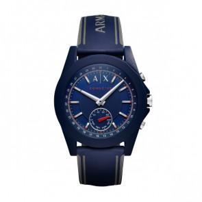 Watch strap Armani Exchange AXT1002 Rubber Blue 22mm
