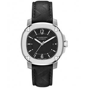 Watch strap Burberry BBY1209 Leather Anthracite grey 20mm