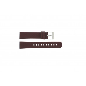 Watch strap Tag Heuer WAC1219 / BC0848 Leather Bordeaux 17mm