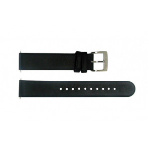 Watch strap Mondaine BM20026 Leather Black 16mm