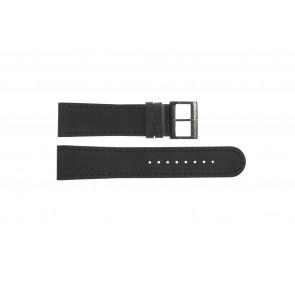 Watch strap Mondaine BM20054-W Leather Black 22mm