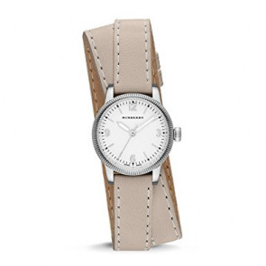 Watch strap Burberry BU7847 Leather Beige