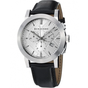 Watch strap Burberry BU9358 / 7177850 Leather Black